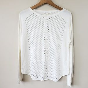 Two by Vince Camuto Ivory Holey Sweater